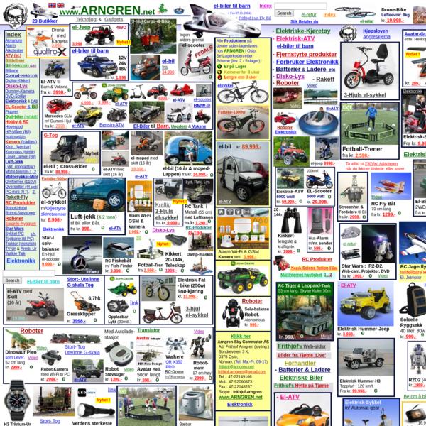 ATV, drone, elbil, elsykkel, rc helikopter, ATV, robot, elatv