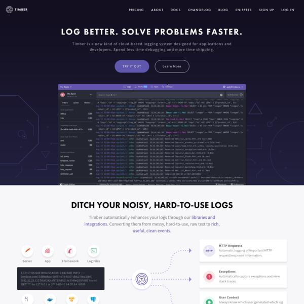 Timber.io | Log Better