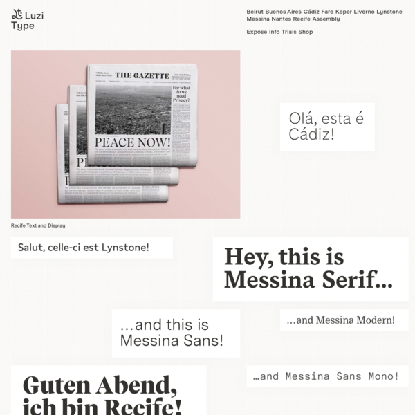 Luzi Type is a Swiss type foundry with an innovative catalogue of sophisticated fonts.