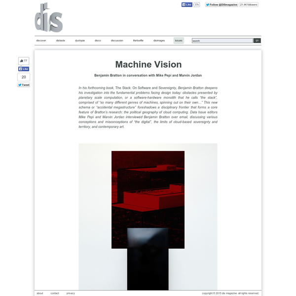 Benjamin Bratton | Machine Vision