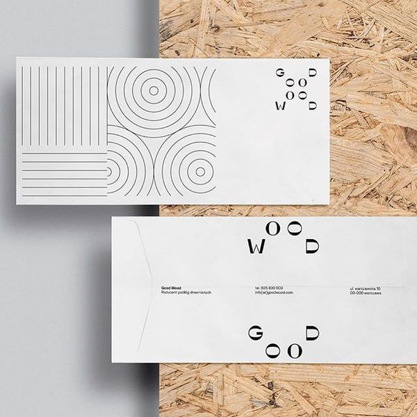 Beautiful identity designed for Good Wood, a manufacturer of wooden floors, created by @danilenko_jr Dziubek in Poland.