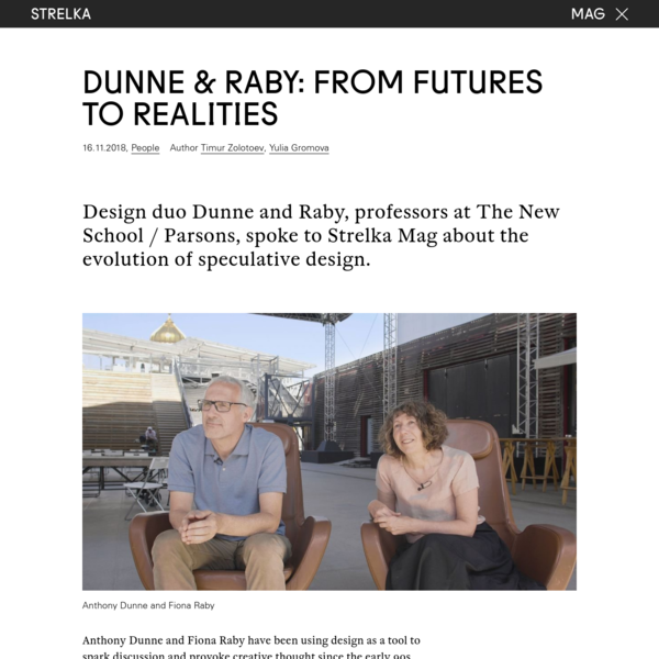 Dunne & Raby: From Futures to Realities