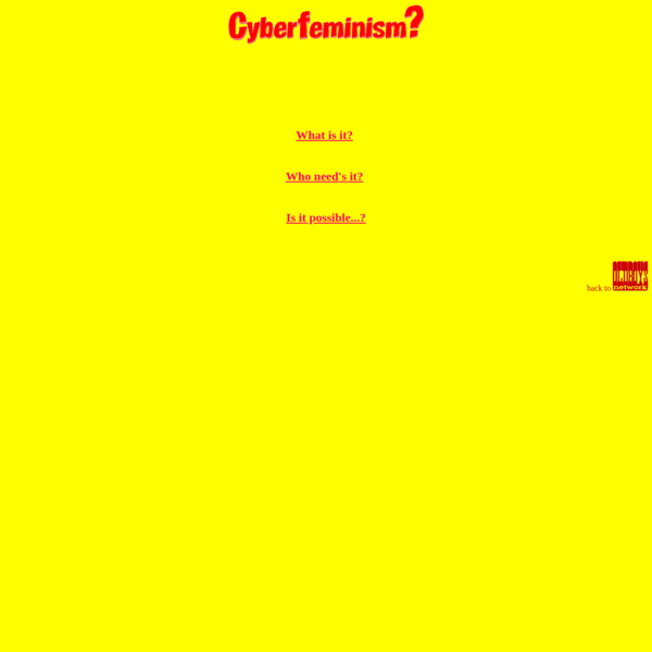 The Truth about Cyberfeminism