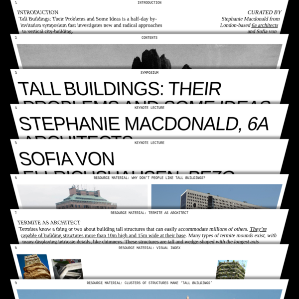 Tall Buildings: Their Problems and Some Ideas