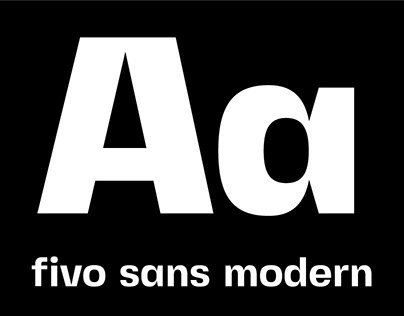 Fivo Sans Modern is an eye-catching display version of Fivo Sans, therefore they work together well. It has roots in the Swiss Typography and modern type design.