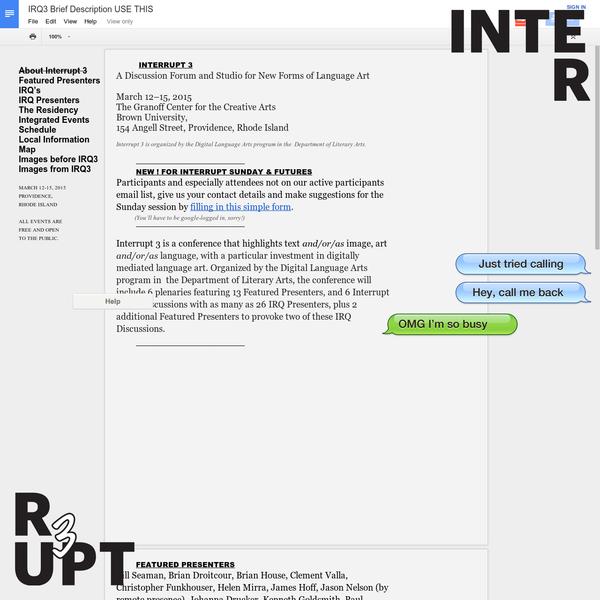Interrupt 2015