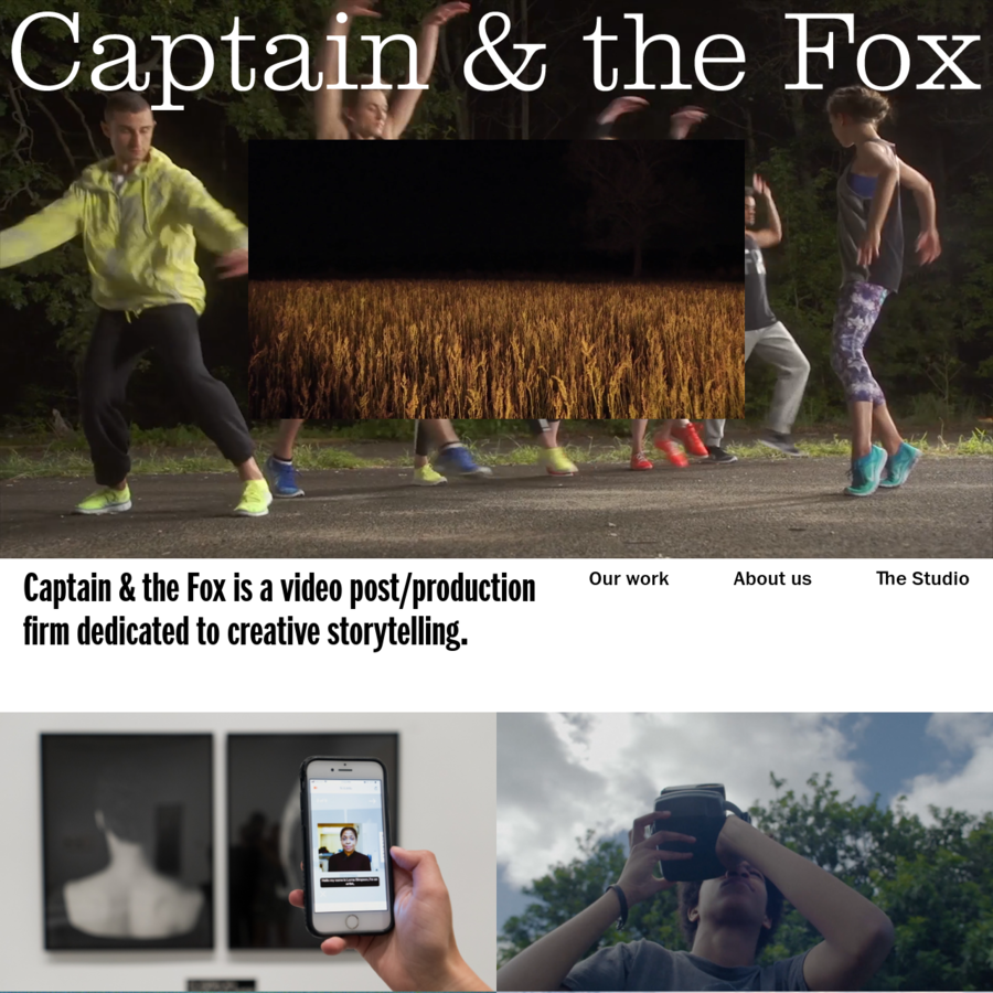 Captain & the Fox is a video post/production collective dedicated to creative storytelling.