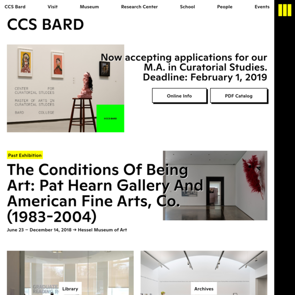 Center for Curatorial Studies Bard