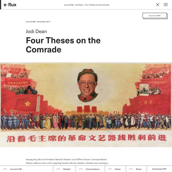 Four Theses on the Comrade