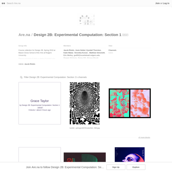 Course collection for Design 2B, Spring 2019 at Mason Gross School of the Arts at Rutgers University. Please post here 6 times a week of images you are interested in and that relate to the course. The first week just post once due to the late addition of everyone to the site.