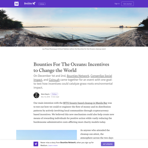 Bounties For The Oceans: Incentives to Change the World