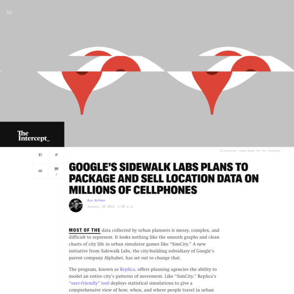 Google's Sidewalk Labs Plans to Package and Sell Location Data on Millions of Cellphones
