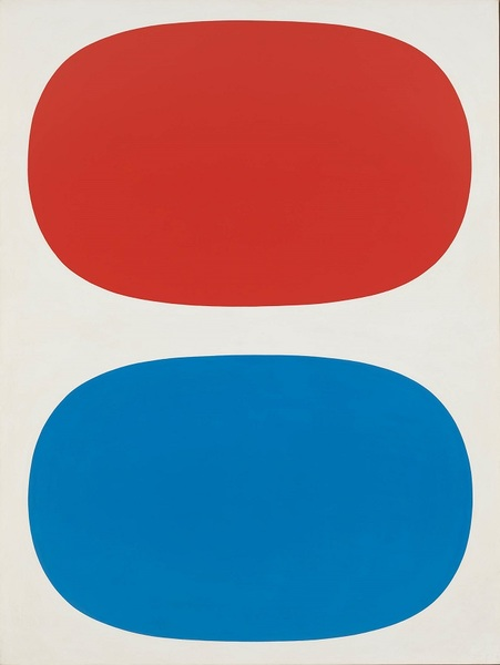Ellsworth Kelly - Red, White and Blue (1961) Oil on linen 88 1/4 x 66 9/16 in. (224.2 x 169.1 cm) Whitney Museum of American Art