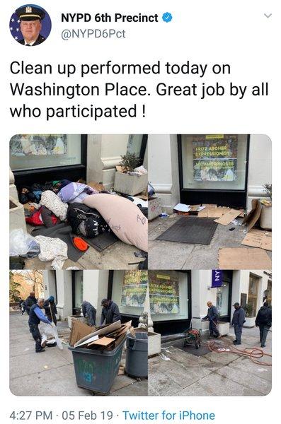 homeless cleanup @nyu