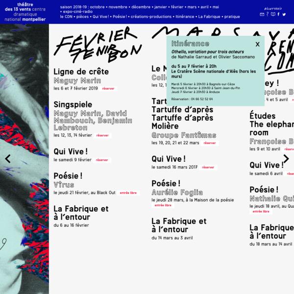 Théâtre des 13 vents * Centre Dramatique National * Montpellier
