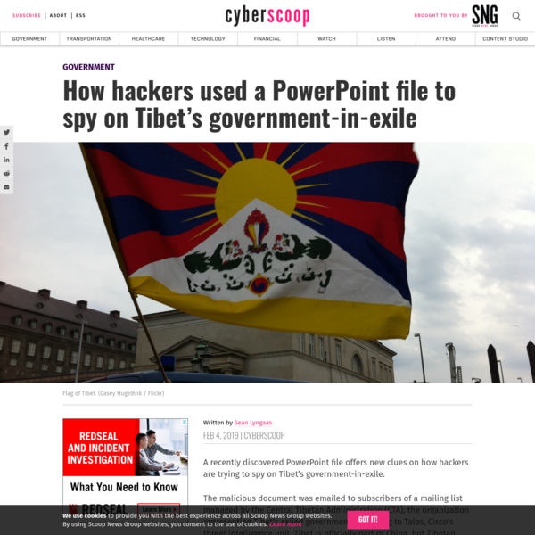 How hackers used a PowerPoint file to spy on Tibet's government-in-exile - CyberScoop
