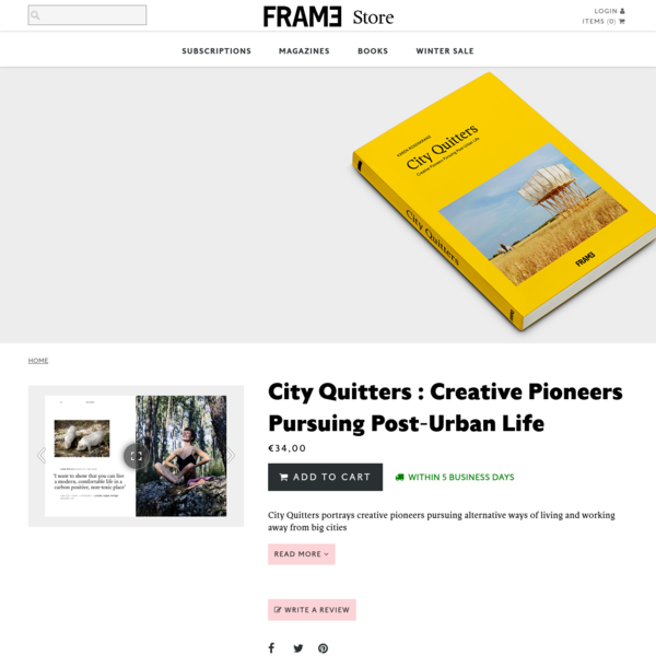 City Quitters : Creative Pioneers Pursuing Post-Urban Life