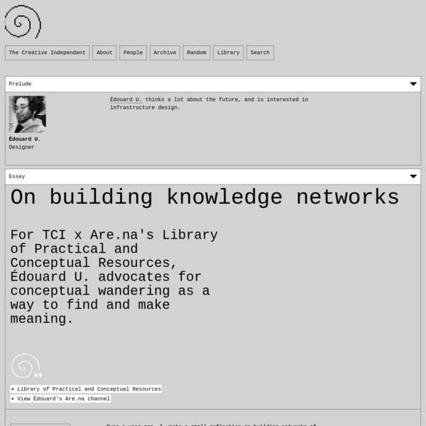 On building knowledge networks