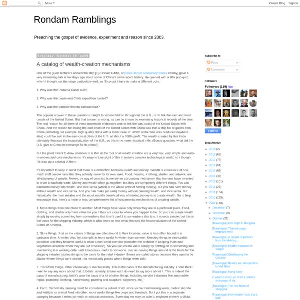 Rondam Ramblings: A catalog of wealth-creation mechanisms