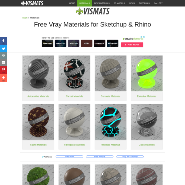 Check out all of the industries we offer free Vray materials for sketchup and rhino. Contact us if you have questions.