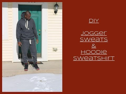 DIY [Beginner Sewing] Jogger sweats & Hoodie