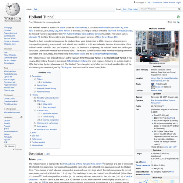 Holland Tunnel - Wikipedia