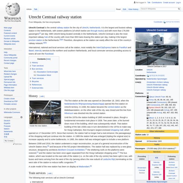 Utrecht Centraal railway station - Wikipedia
