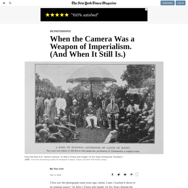 When the Camera Was a Weapon of Imperialism. (And When It Still Is.)