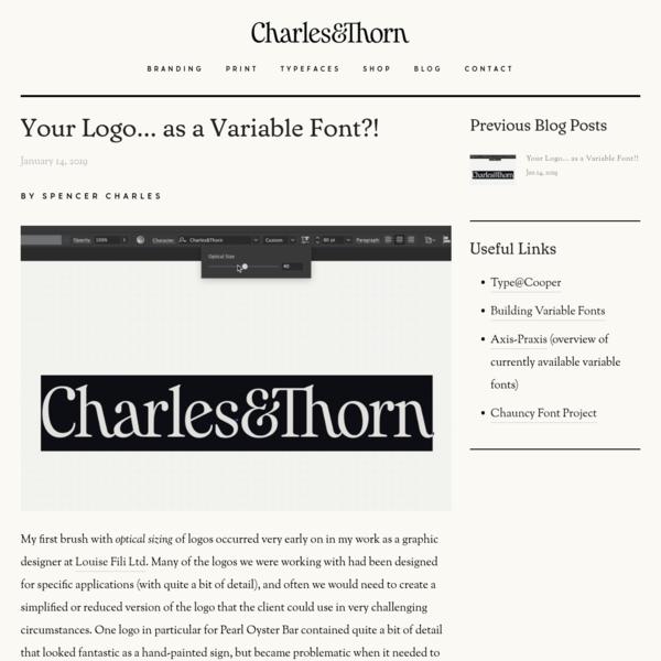 C&T Blog - Charles&Thorn * Lettering & Illustration for Branding