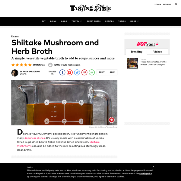 Shiitake Mushroom and Herb Broth