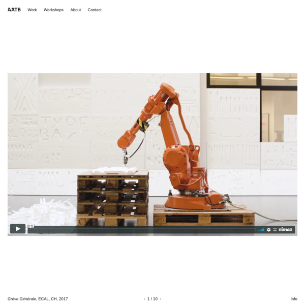 Andrea Anner and Thibault Brevet design and build things with robots.
