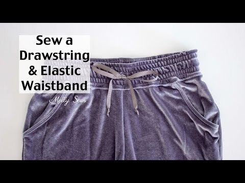 Learn to Sew a Drawstring Waistband - Jogger Pants Waistband Tutorial