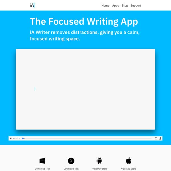 iA Writer: The Focused Writing App for Mac, Windows, Android, iPhone and iPad