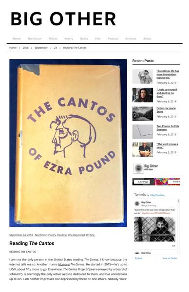 Greg Gerke: Reading the Cantos