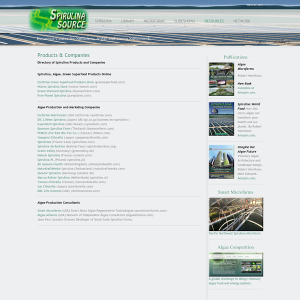 "Spirulina Source "" Products & Companies"
