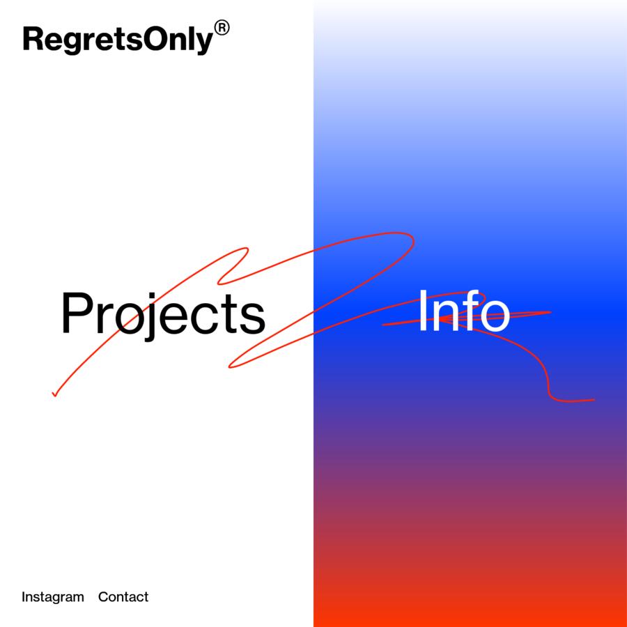 RegretsOnly is the art and design practice of Caleb Halter. Identity, design, development, art direction, etc.