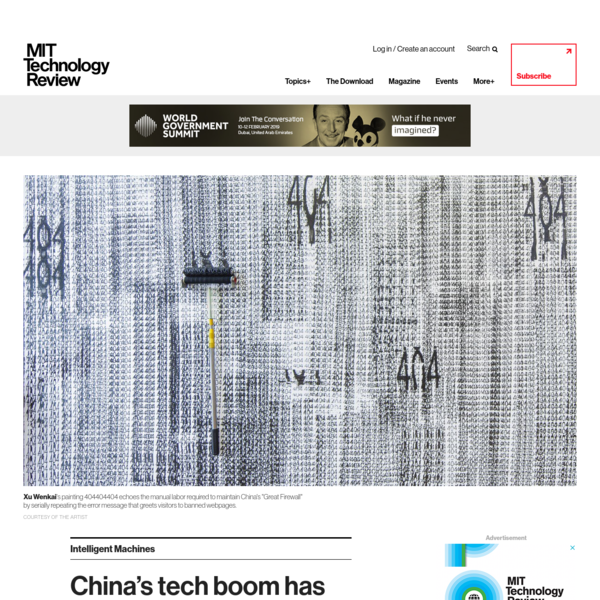 China's tech boom has inspired a wave of internet-related art