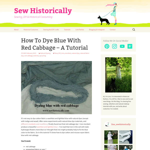 How To Dye Blue With Red Cabbage - A Tutorial - Sew Historically
