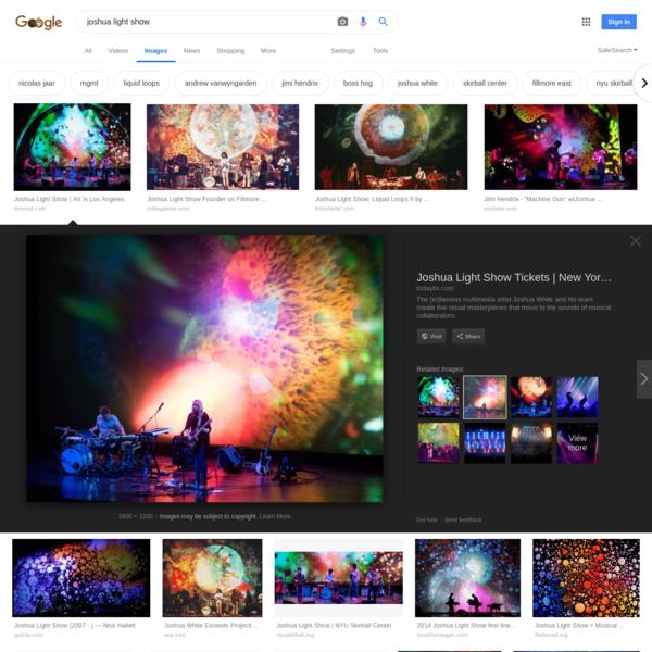 joshua light show - Google Search