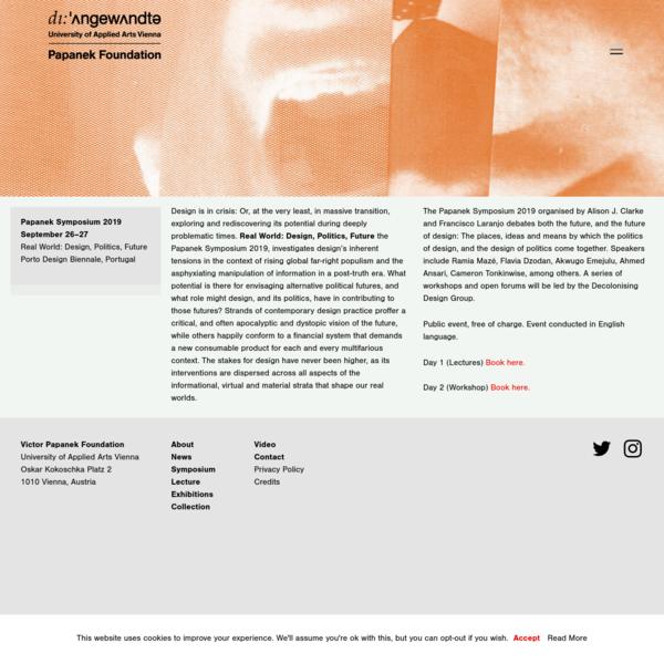 Papanek Foundation - Symposium 2019