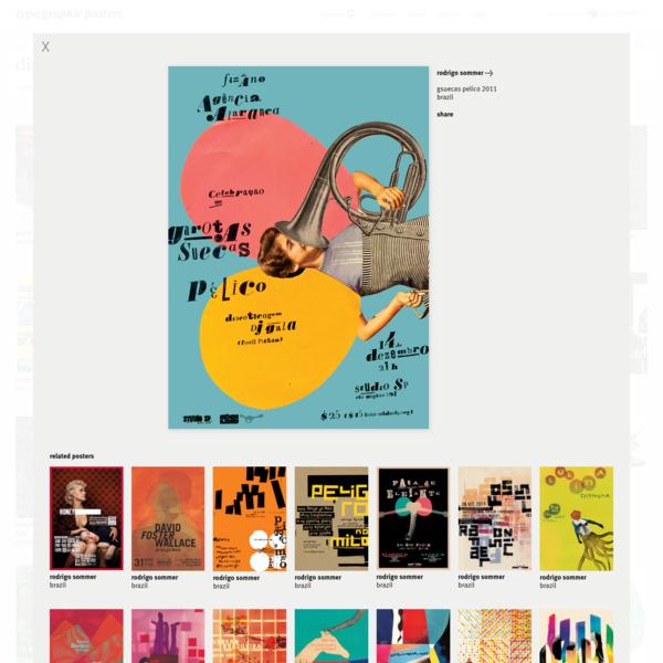 gsuecas pelico 2011, by rodrigo sommer - typo/graphic posters