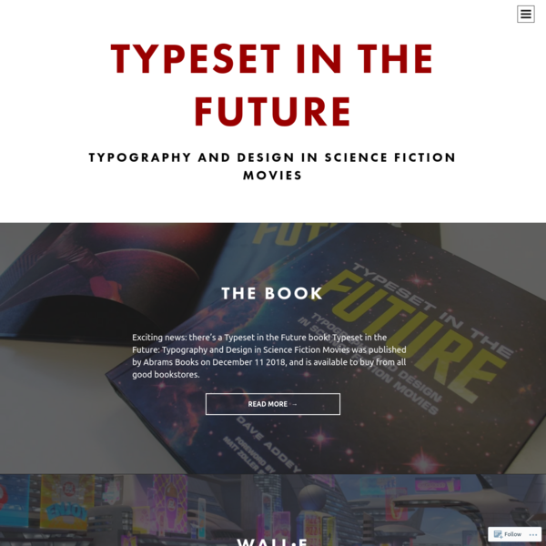 Typeset In The Future | Typography and Design in Science Fiction Movies