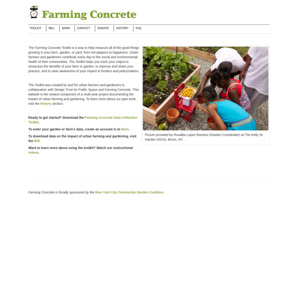 Farming Concrete - Measuring the good things in community gardens