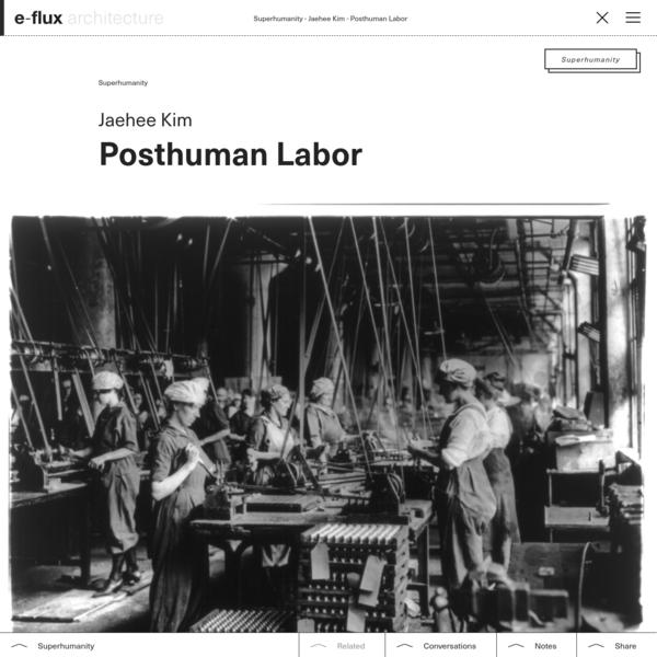 Posthuman Labor