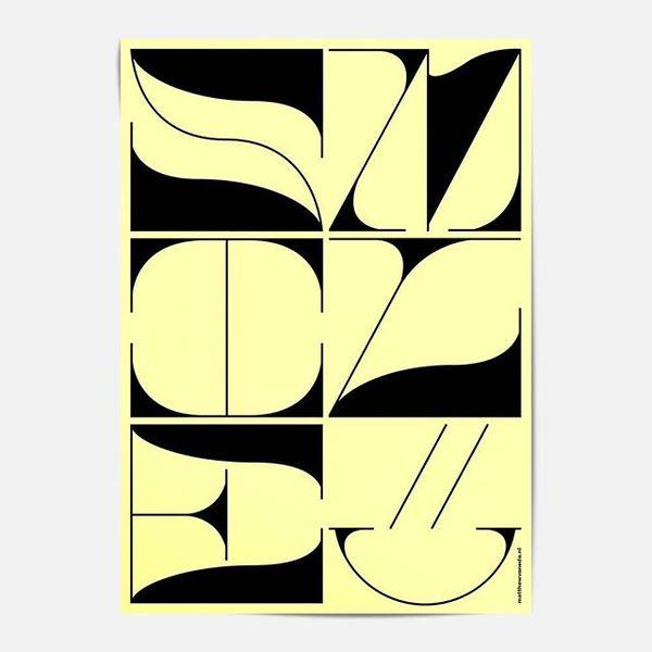 word: Smile⠀ by: @matthew_van_ede_van_der_pals / Matthew van Ede van der Pals⠀ .⠀ .⠀ .⠀ #poster #design #smile #yellow #smil...