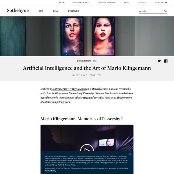 Artificial Intelligence and the Art of Mario Klingemann