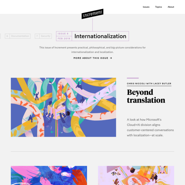 Increment: Internationalization