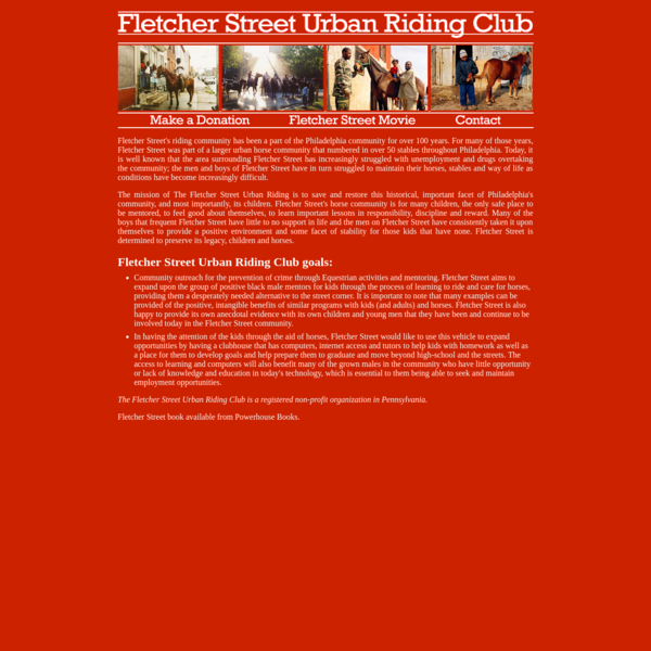 Fletcher Street Urban Riding Club