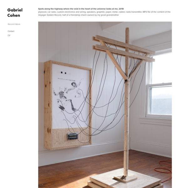 Recent Work - Gabriel Cohen