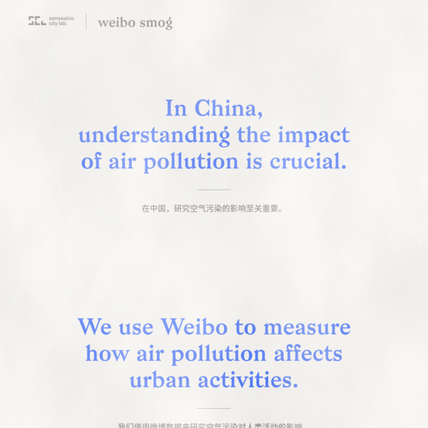 In China understanding the impact of air pollution is crucial. We use Weibo to measure how air pollution affects human activities